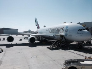 My Emirates flight from LAX to Dubai