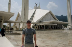Nick Rice at Al Faisal Mosque in Islamabad