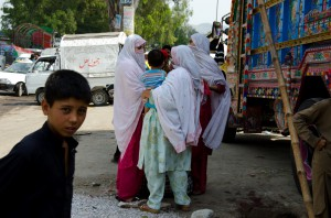 A group of women in Abbottabad along the Karakorum Highway