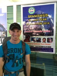Nick in front of the expedition poster that we found posted at the K2 motel.