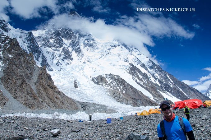 Nick at K2 Base Camp