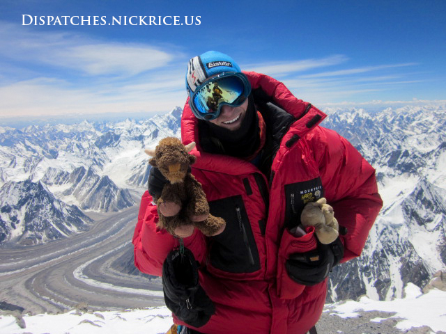 Nick on the main summit of Broad Peak on July 24th, 2014 at 1:00pm local time