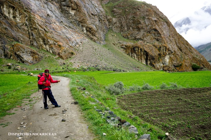 Akbar (the expedition cook) on the first day of the trek to base camp