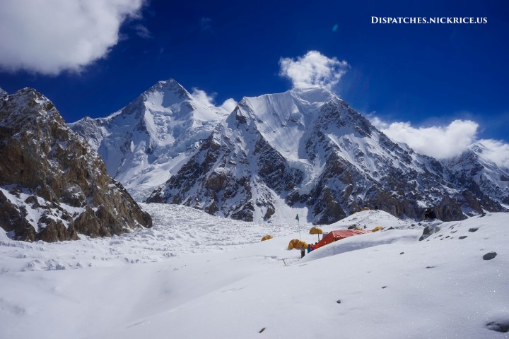 Gasherbrum I viewed from Base Camp