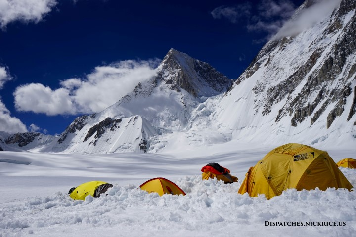 Gasherbrum IV viewed from Camp I