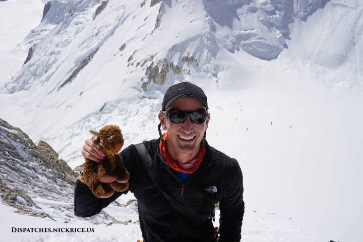 Nick and an icy Base Camp Buffalo at around 7000 meters en route to Camp III