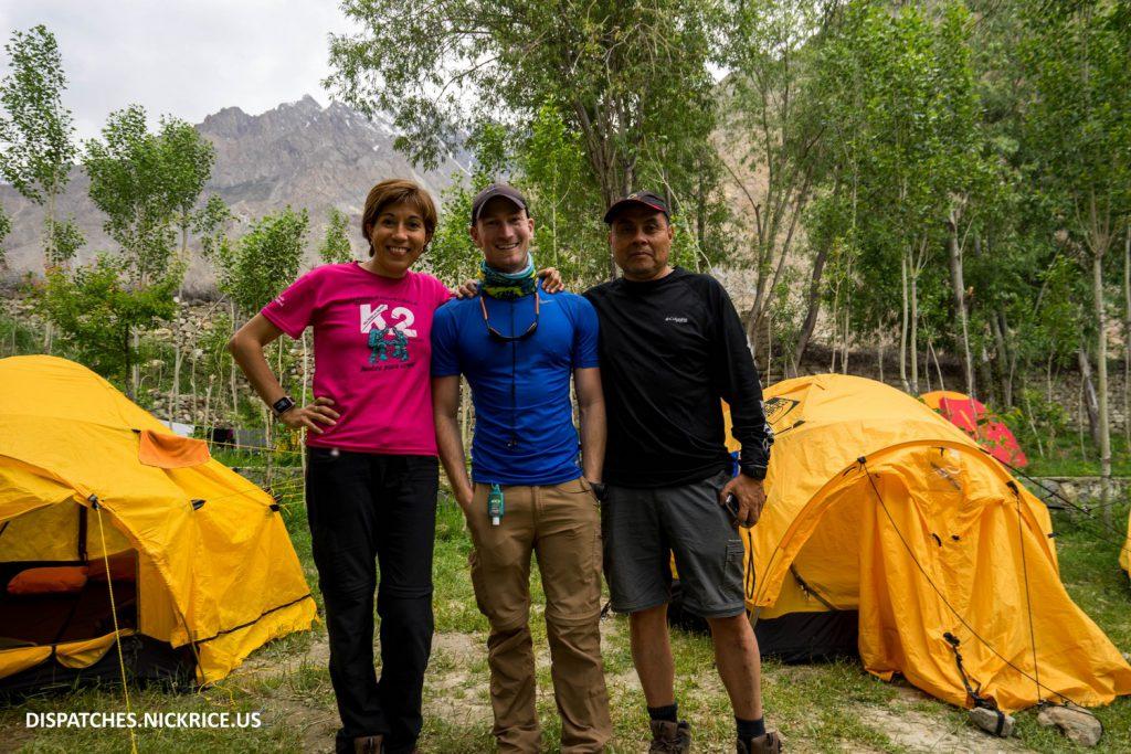 Badia, Nick, and Mauricio in Askole