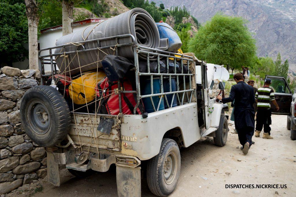 Our Jeeps in Dasu