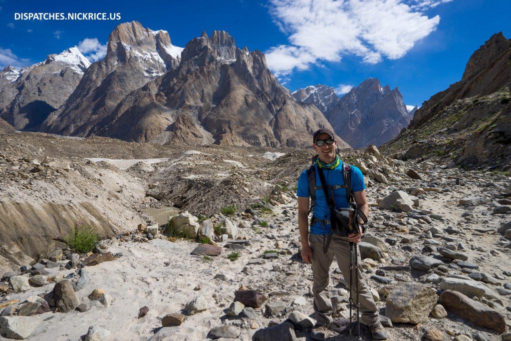 Nick Rice trekking to Urdukas
