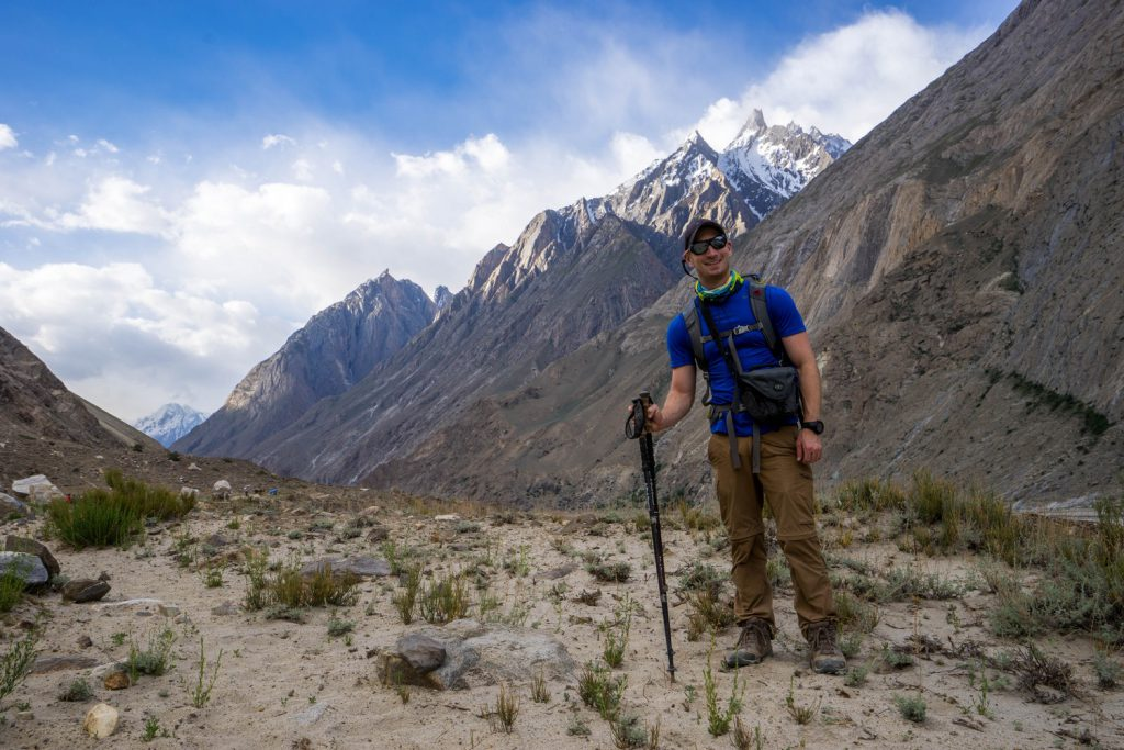 Nick Rice en route to Paiju from Jhula on the trek to K2 basecamp
