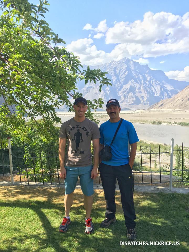 Qudrat Ali and Nick Rice  in Skardu