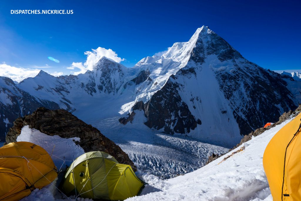 Broad Peak viewed from Camp I on K2's Abruzzi Spur