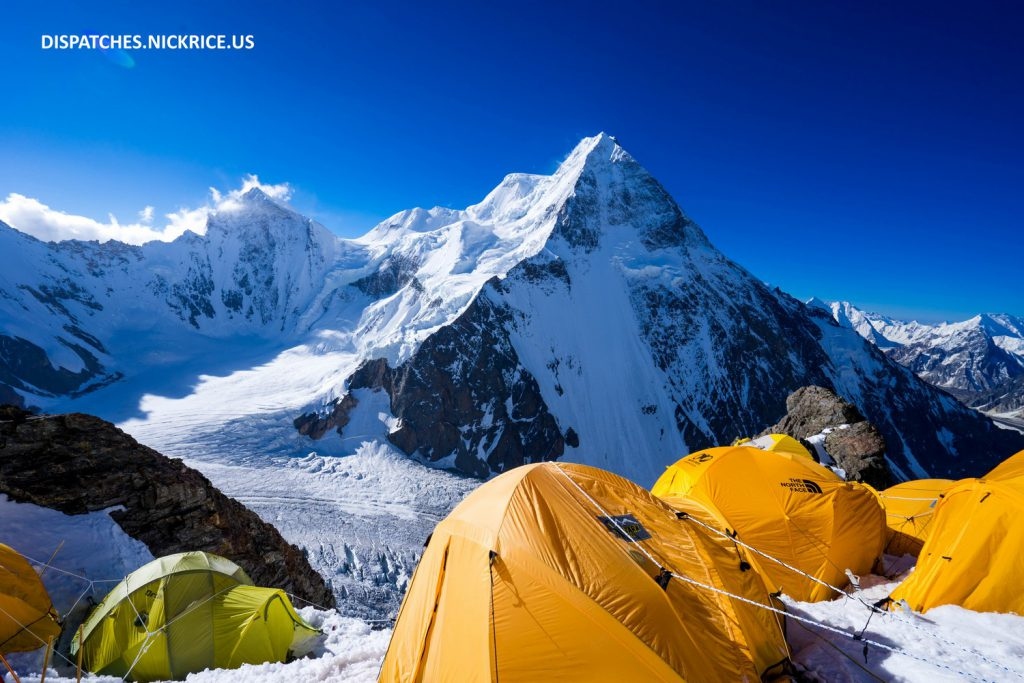 A beautiful morning in Camp I on K2