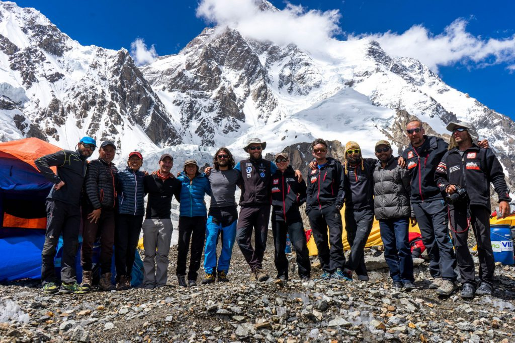My mountain family in K2 Base Camp.