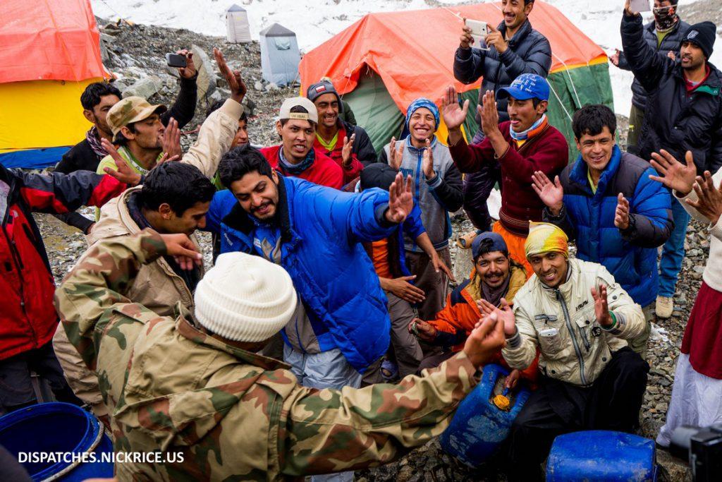 Local staff enjoying the Eid ul Fitr celebrations